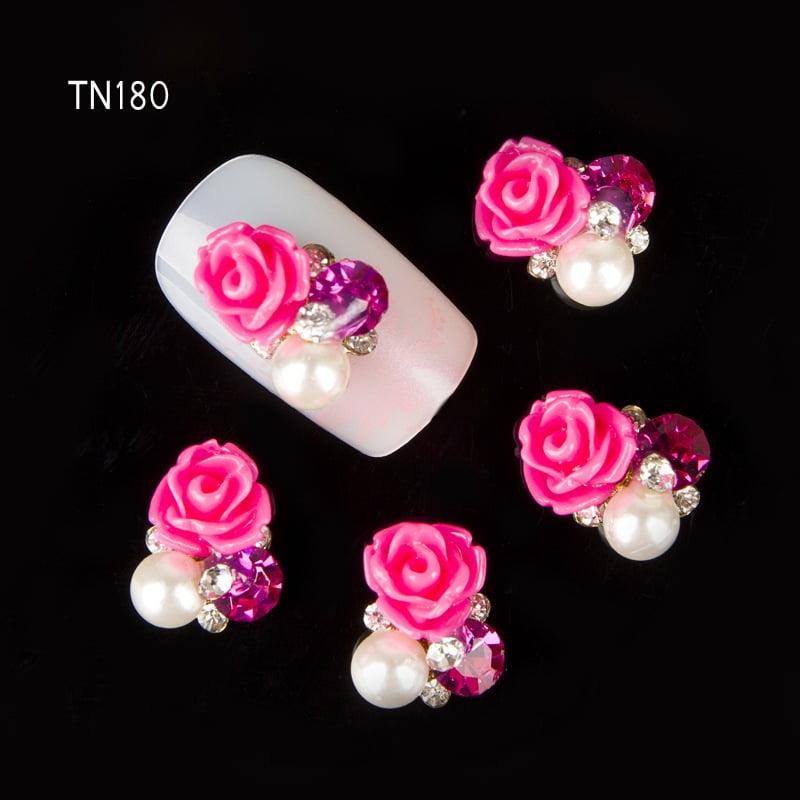 Cas Lazos Para Unas Acrilicas 5 Pares Por 250 Color Rosa